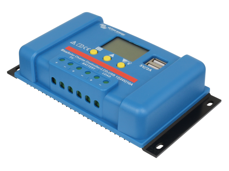 Victron Blue Solar 12/24V 10A PWM Charge Controller (LCD-USB) on